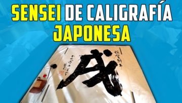 Sensei de caligrafía japonesa